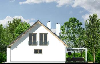 Projekt domu Harmonia Nova A elewacja prawa