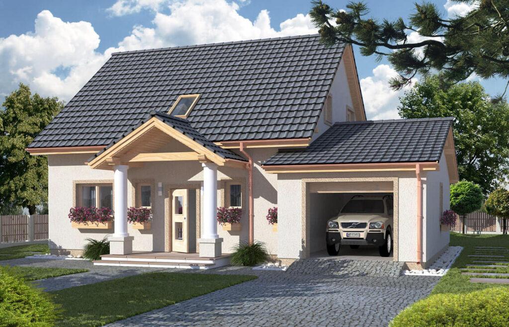 Projekt domu jednorodzinnego Hiacynt C widok front