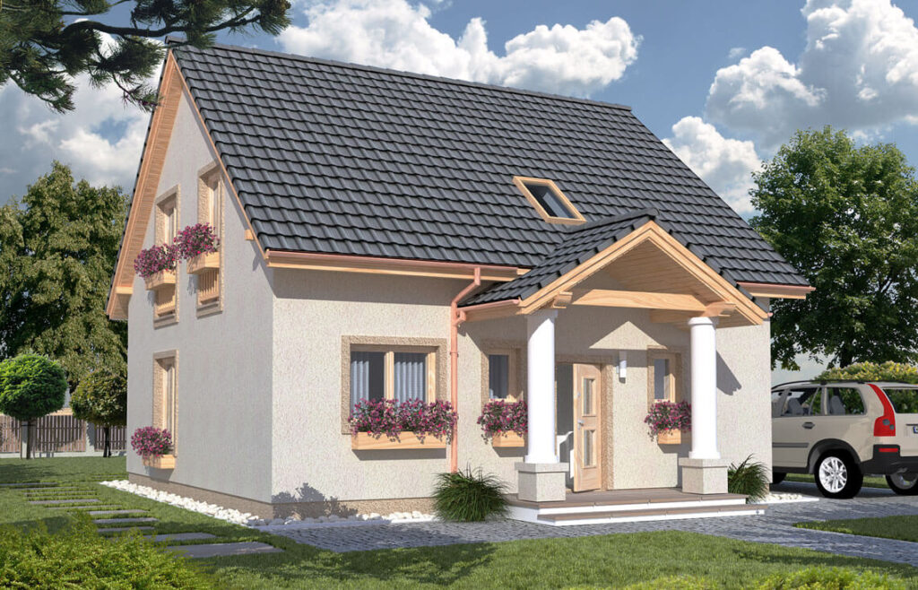 Projekt domu jednorodzinnego Hiacynt widok front