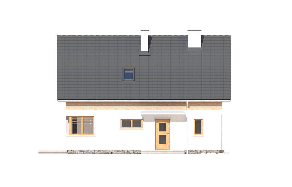 Projekt domu jednorodzinnego Jantar A MDM elewacja front