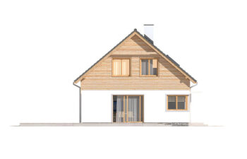 Projekt domu jednorodzinnego Jantar A MDM elewacja lewa