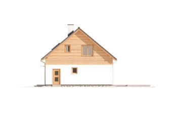 Projekt domu jednorodzinnego Jantar 2A elewacja prawa