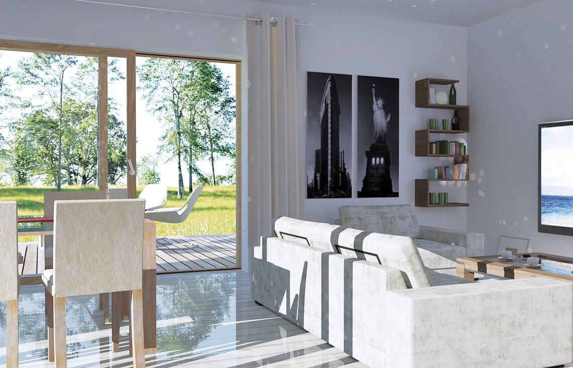 Projekt domu jednorodzinnego Jantar A MDM wnętrze 1