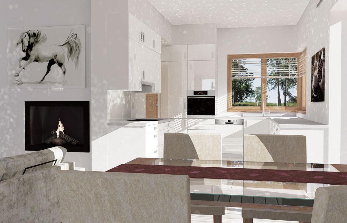 Projekt domu jednorodzinnego Jantar A MDM wnętrze 2