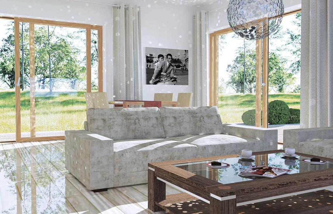 Projekt domu jednorodzinnego Jantar A MDM wnętrze 3