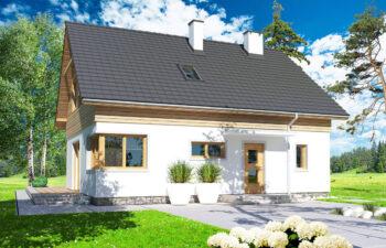 Projekt domu jednorodzinnego Jantar A i MDM widok front