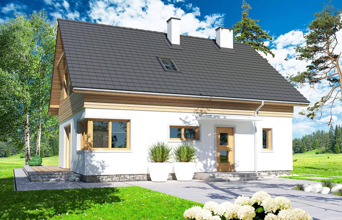 Projekt domu jednorodzinnego Jantar AiMDM widok front
