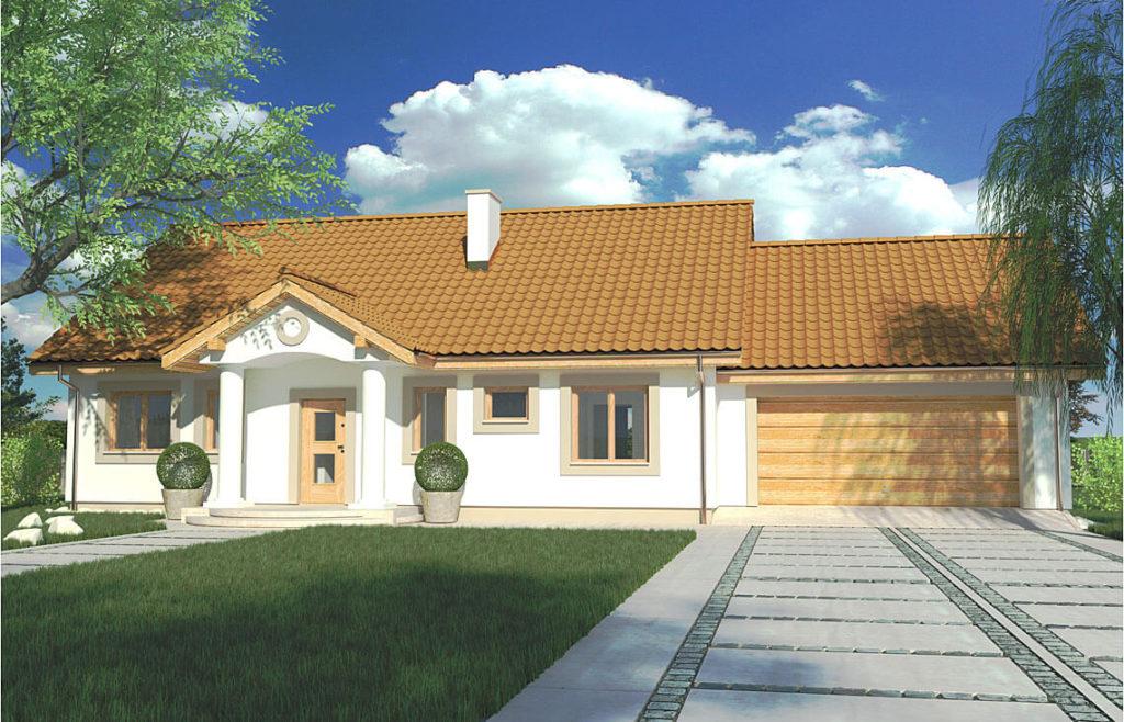 Projekt domu jednorodzinnego Kinga C widok front