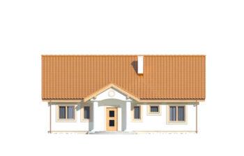 Projekt domu jednorodzinnego Kinga A elewacja front