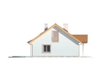 Projekt domu jednorodzinnego Kinga A elewacja lewa