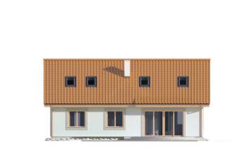 Projekt domu jednorodzinnego Kinga A elewacja ogród