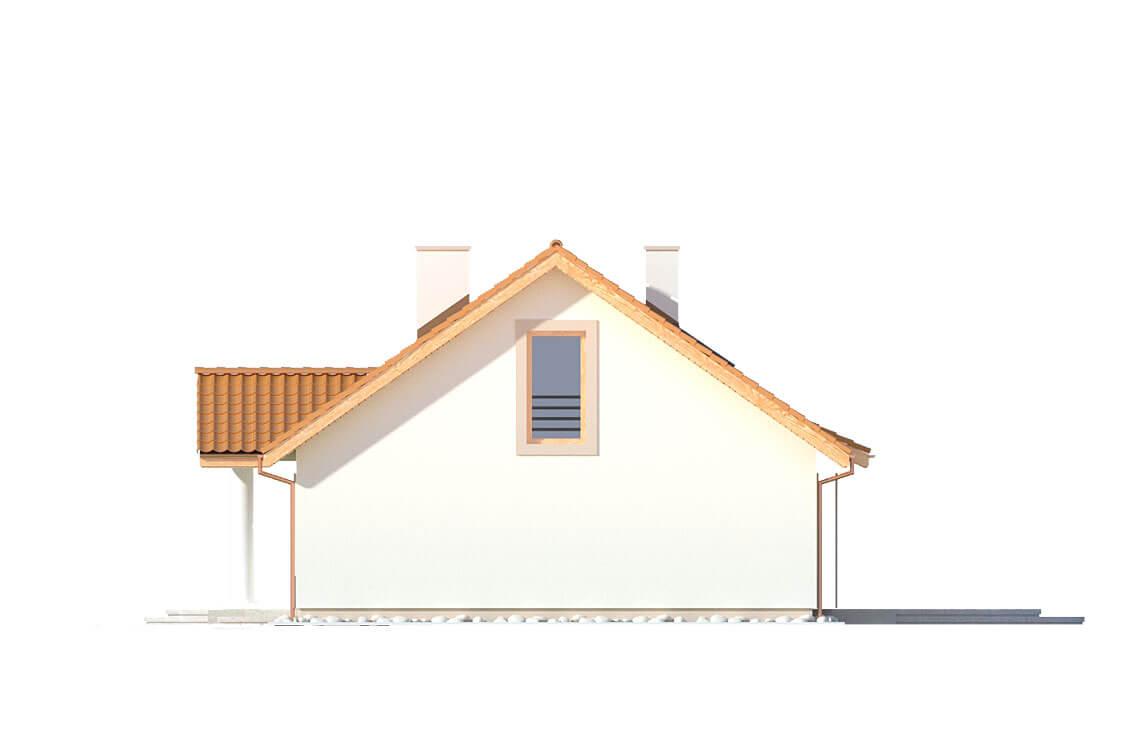 Projekt domu jednorodzinnego Kinga A elewacja prawa