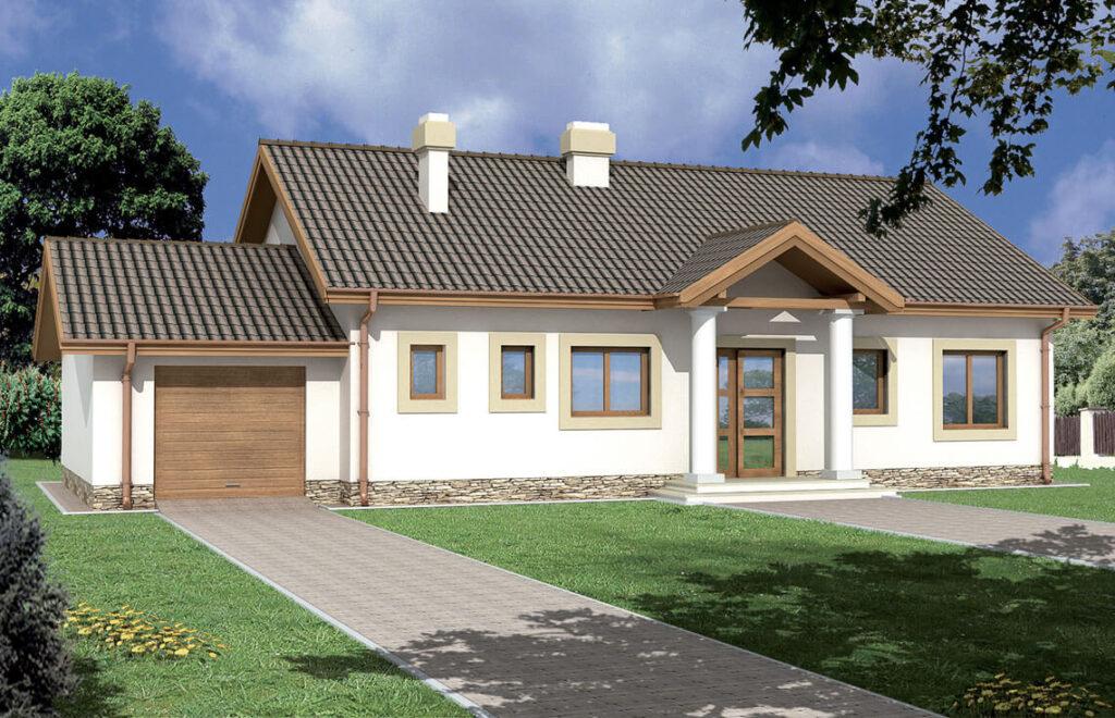 Projekt domu jednorodzinnego Madzia widok front