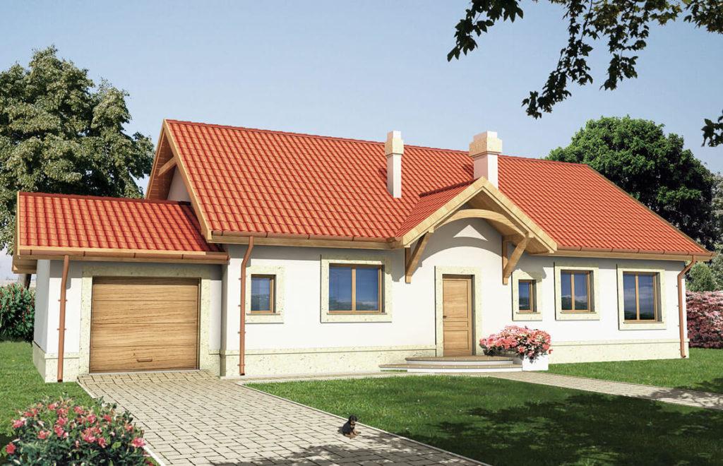 Projekt domu jednorodzinnego Mania widok front
