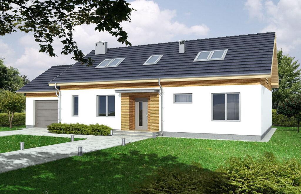 Projekt domu jednorodzinnego Madzia 2A widok front