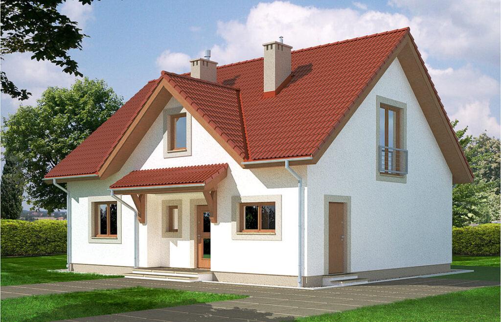 Projekt domu jednorodzinnego Maria Awidok front