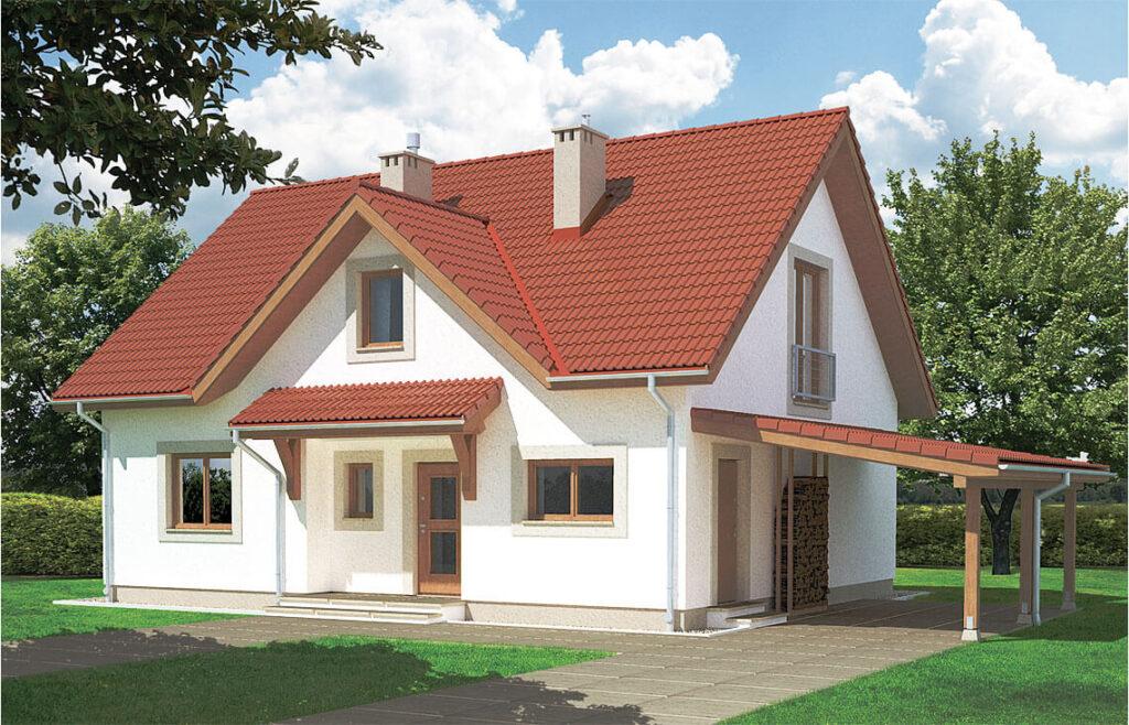 Projekt domu jednorodzinnego Maria AW widok front
