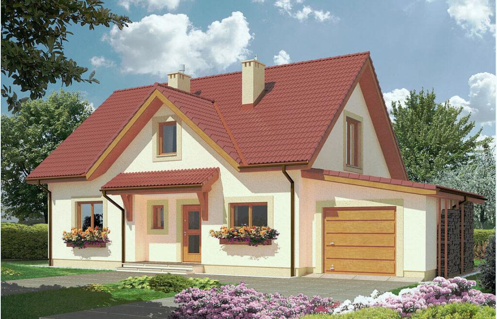 Projekt domu jednorodzinnego Maria B widok front