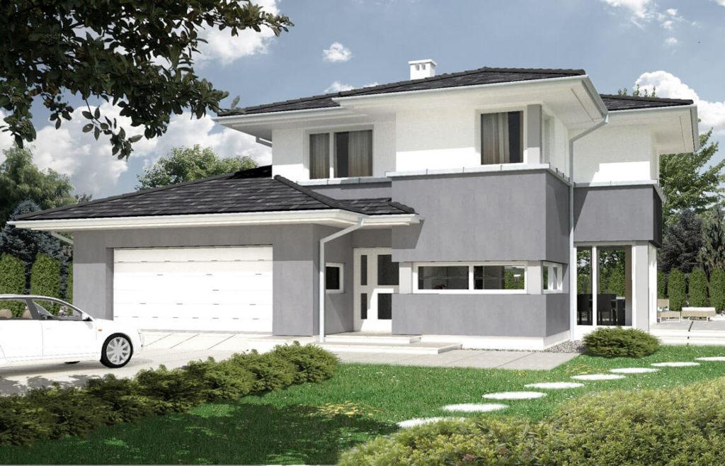 Projekt domu jednorodzinnego Marietta Awidok front