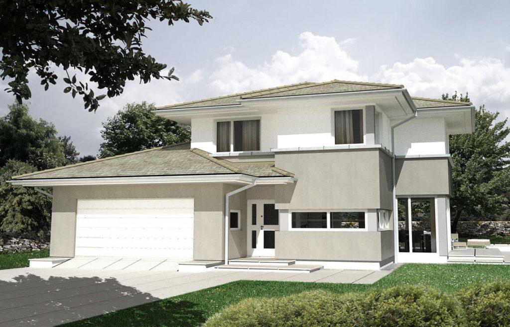 Projekt domu jednorodzinnego Michaś 2A widok front