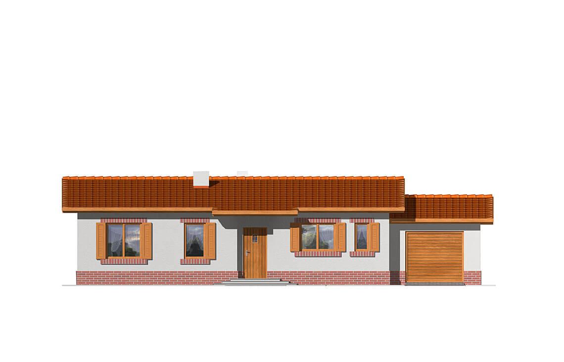 Projekt domu Nina elewacja front