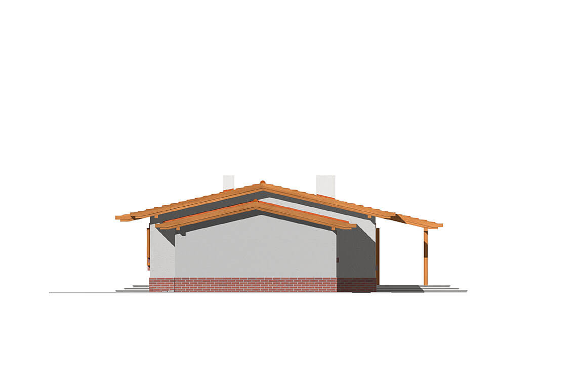 Projekt domu Nina elewacja lewa