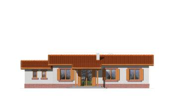 Projekt domu Nina elewacja ogród