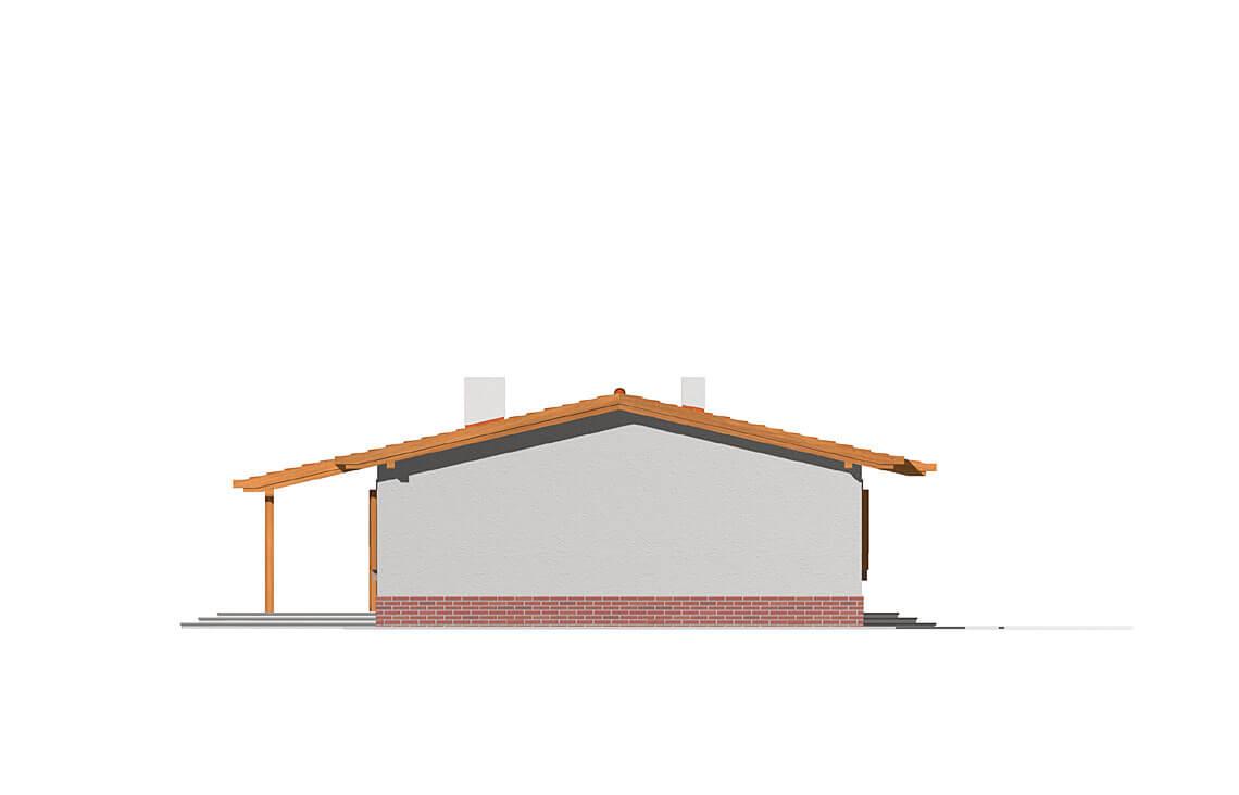 Projekt domu Nina elewacja prawa