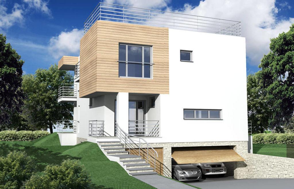 Projekt domu jednorodzinnego Nasz Dom widok front