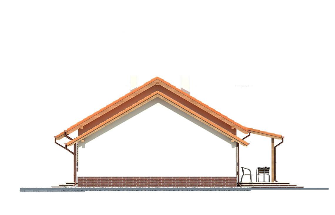 Projekt domu Nina 2 elewacja lewa