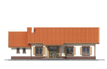 Projekt domu Nina 2 elewacja ogród