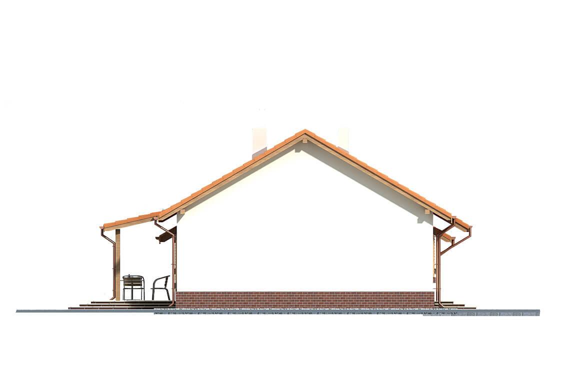 Projekt domu Nina 2 elewacja prawa