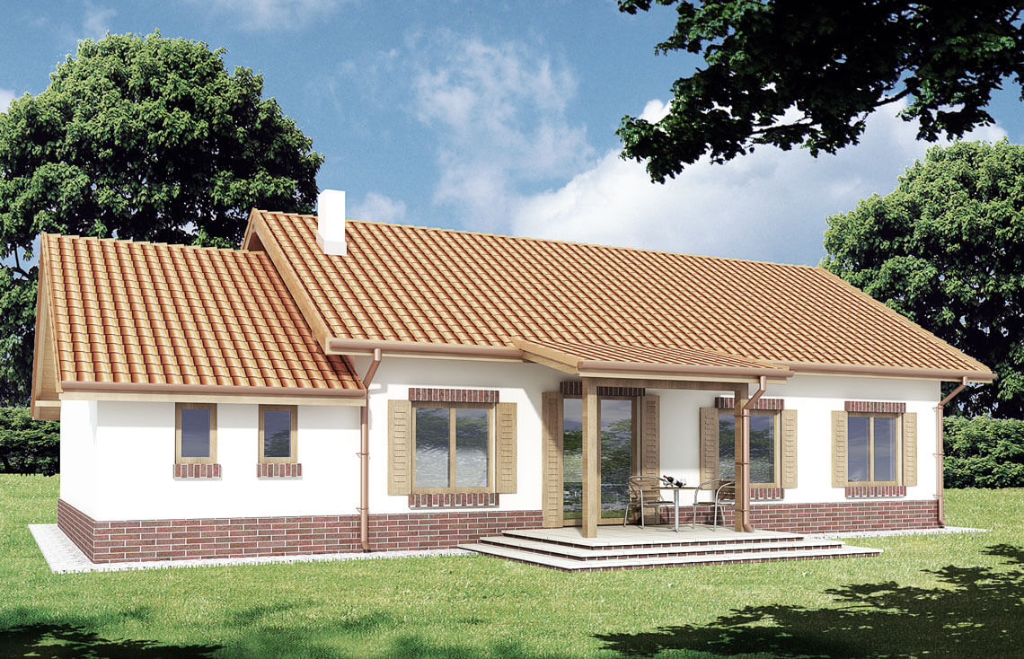Projekt domu Nina 2 widok ogród