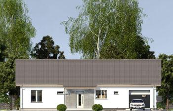 Projekt domu jednorodzinnego Nin 2D elewacja front