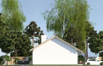 Projekt domu jednorodzinnego Nin 2D elewacja lewa