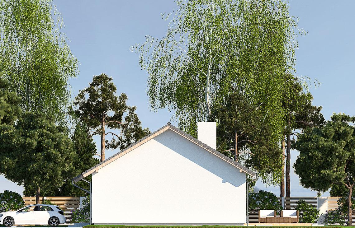 Projekt domu jednorodzinnego Nin 2D eleacja prawa