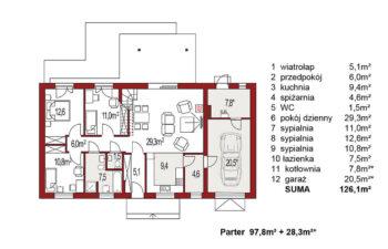 Projekt domu Nina 3 Nova C rzut parteru