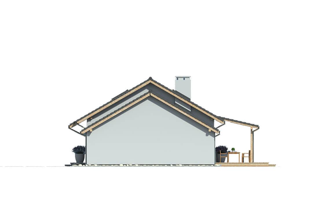 Projekt domu Nina 3 Nova C elewacja prawa