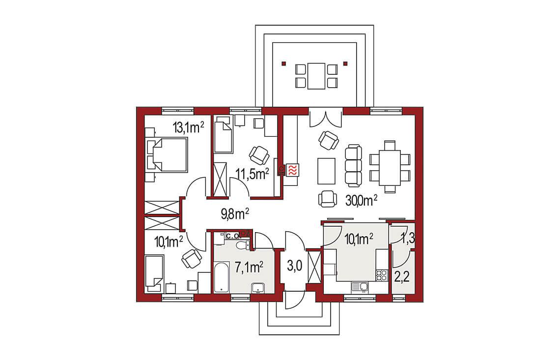 Projekt domu Nina A, 2A Plus rzut