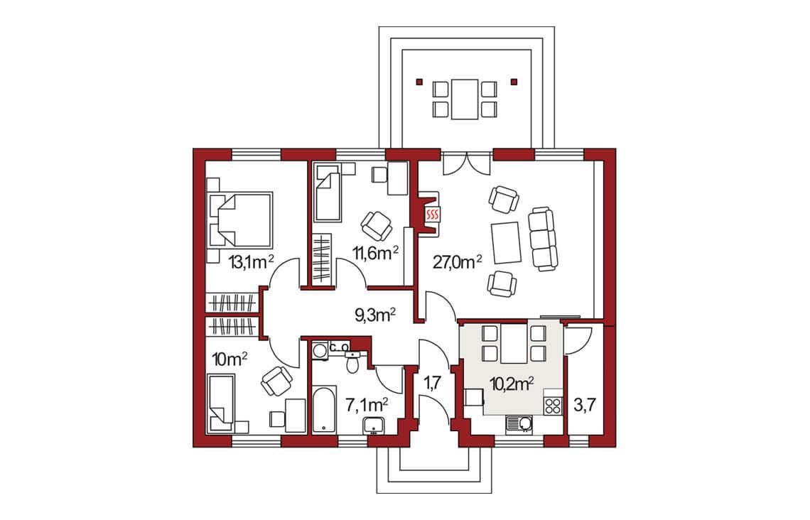 Projekt domu Nina A, 2A rzut