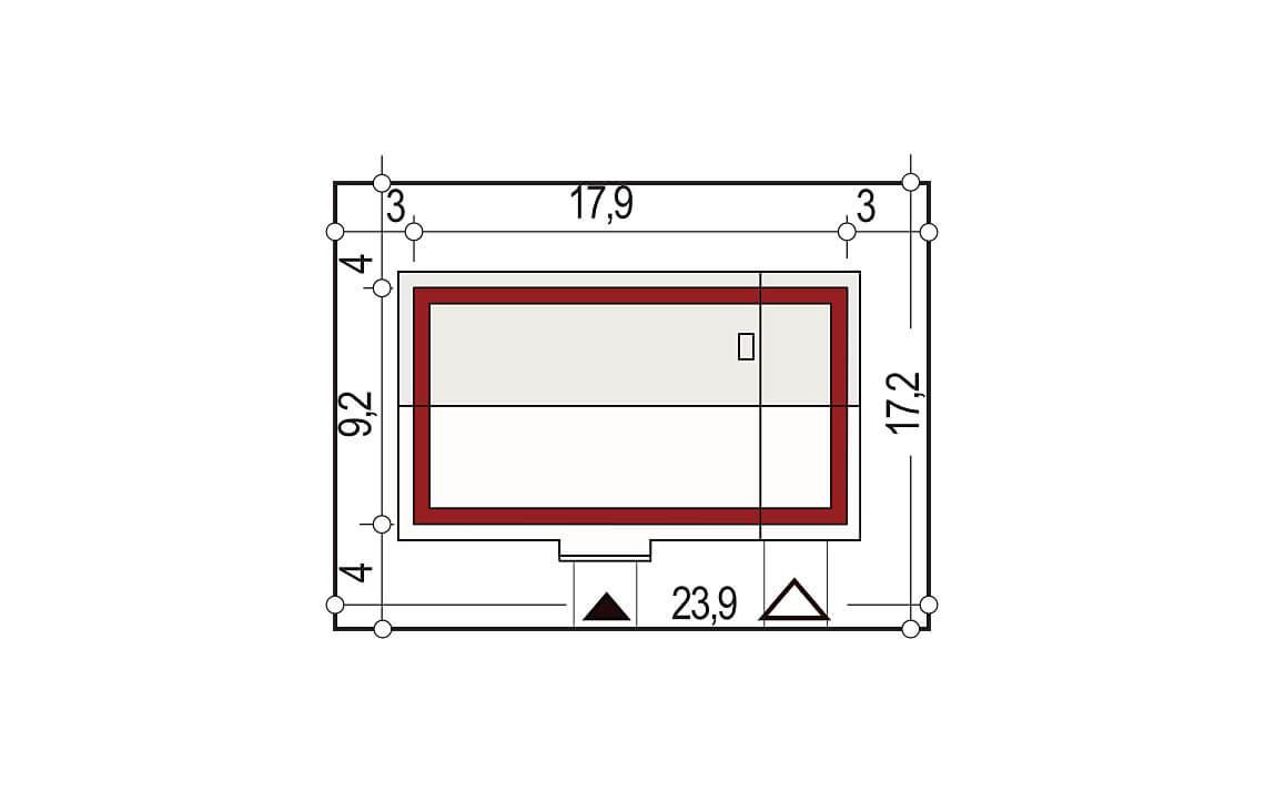 Projekt domu jednorodzinnego Nin 2 C,D PLUS, Nina C,D PLUS sytuacja