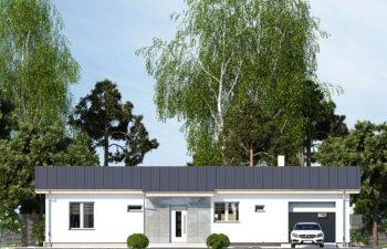 Projekt domu jednorodzinnego Nin D elewacja front