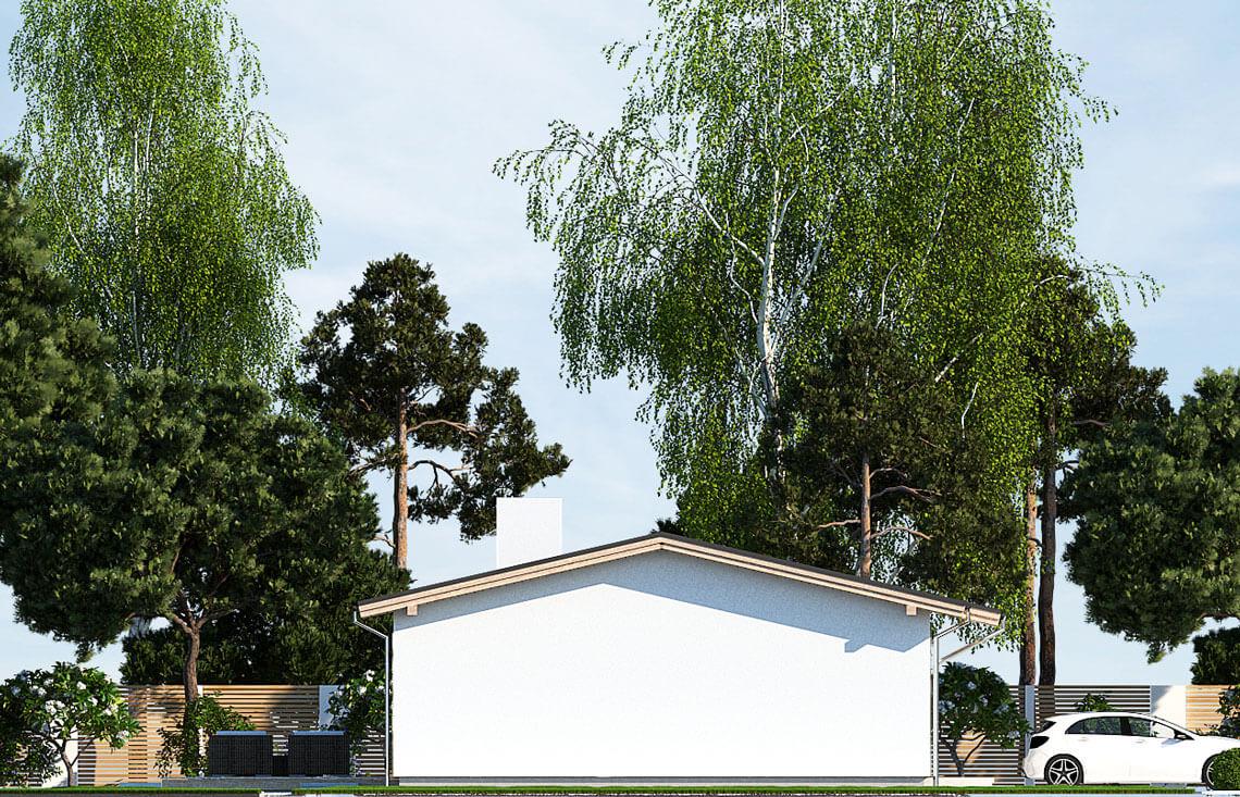 Projekt domu jednorodzinnego Nin D elewacja lewa