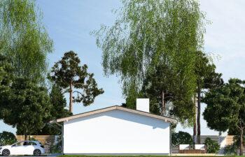 Projekt domu jednorodzinnego Nin D elewacja prawa