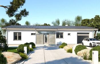 Projekt domu jednorodzinnego Nin D widok front