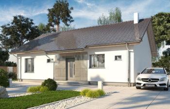 Projekt domu jednorodzinnego parterowego Nina 2A Plus widok front