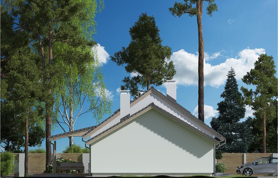 Projekt domu Nina LUX elewacja lewa