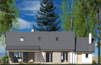 Projekt domu Nina LUX elewacja ogród