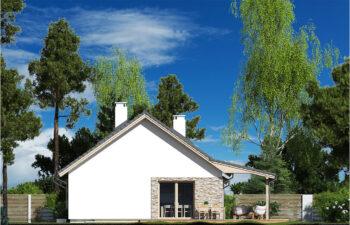 Projekt domu Nina LUX elewacja prawa