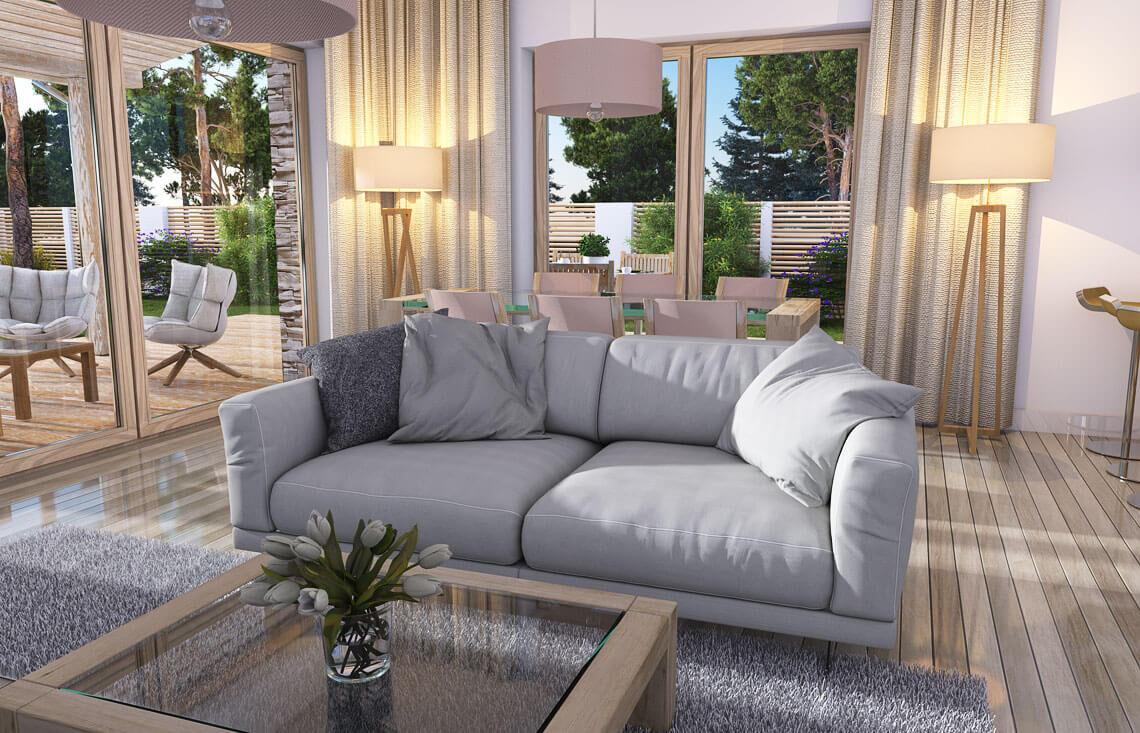 Projekt domu Nina LUX salon